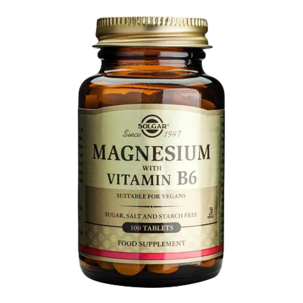 VMS - Solgar Magnesium 400 Mg With Vitamin B6 25 Mg 100 Tablets
