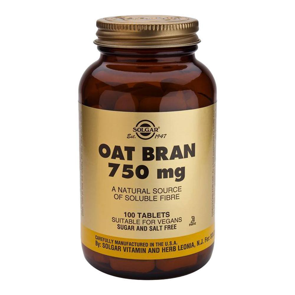 VMS - Solgar Oat Bran 750 Mg 100 Tablets