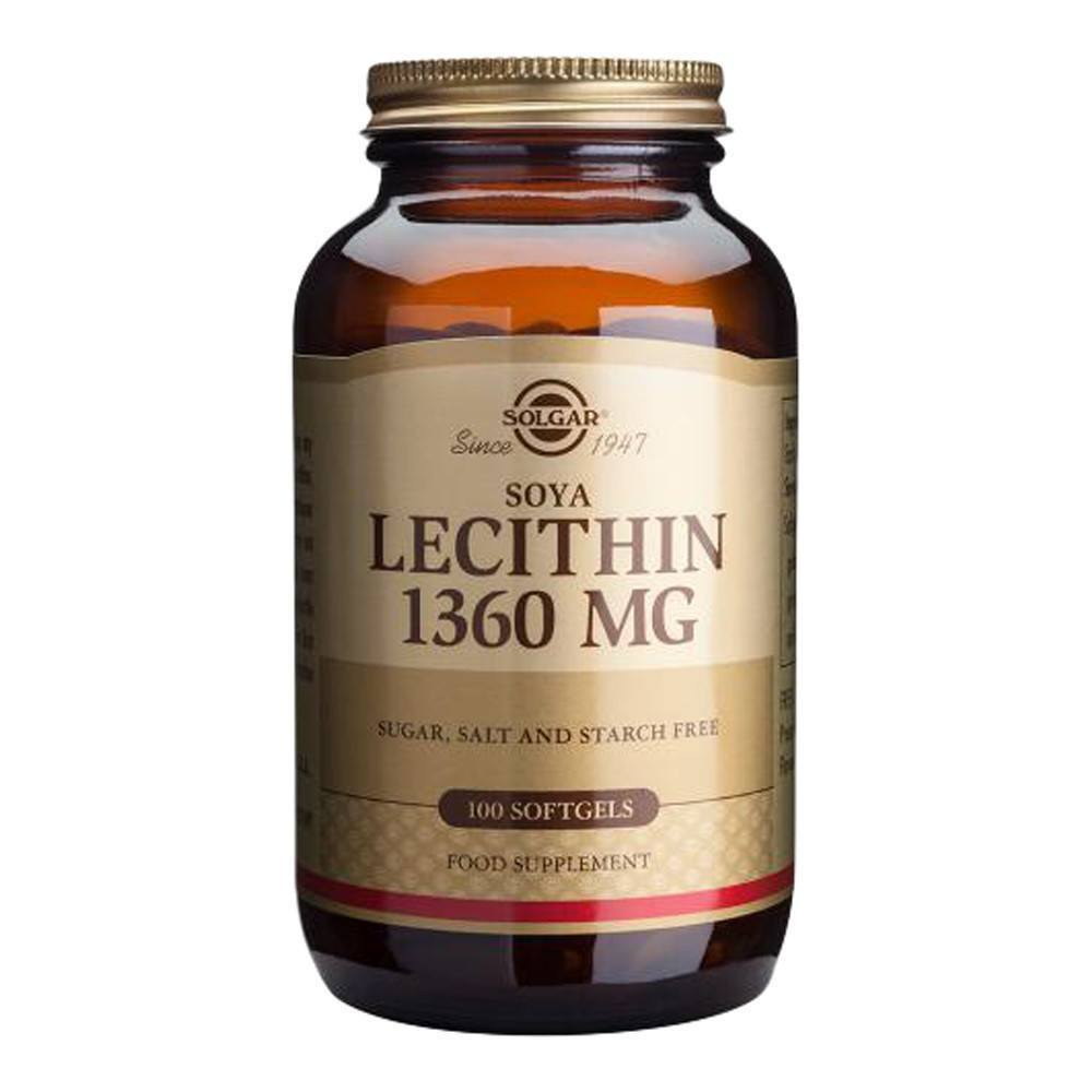 VMS - Solgar Soya Lecithin 1360 Mg 100 Softgels