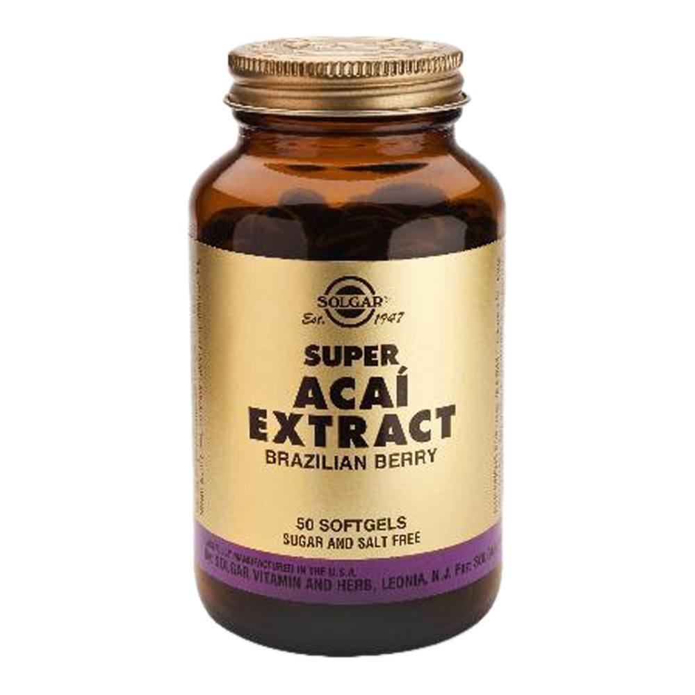 VMS - Solgar Super Acai Extract 150 Mg 50 Softgels