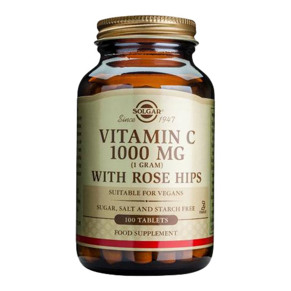 VMS - Solgar Vitamin C 1000 Mg With Rose Hips 100 Tablets