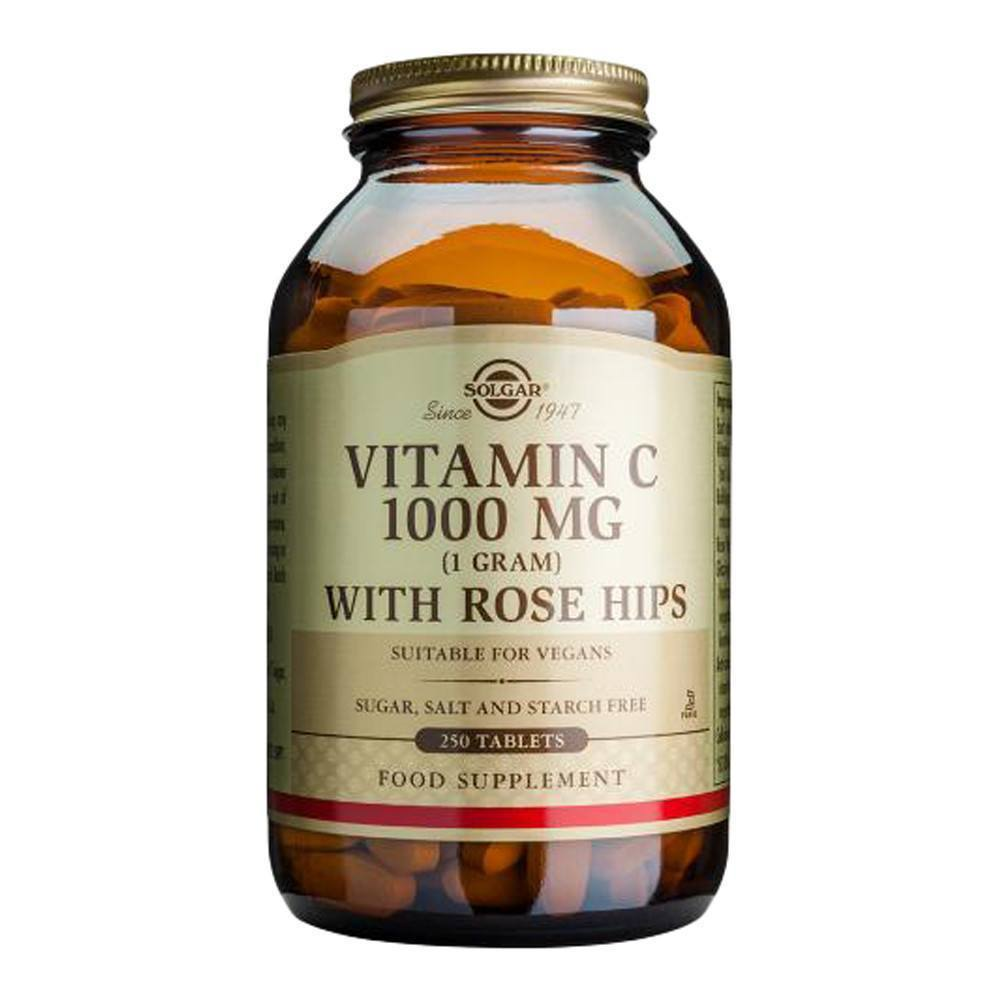 VMS - Solgar Vitamin C 1000 Mg With Rose Hips 250 Tablets