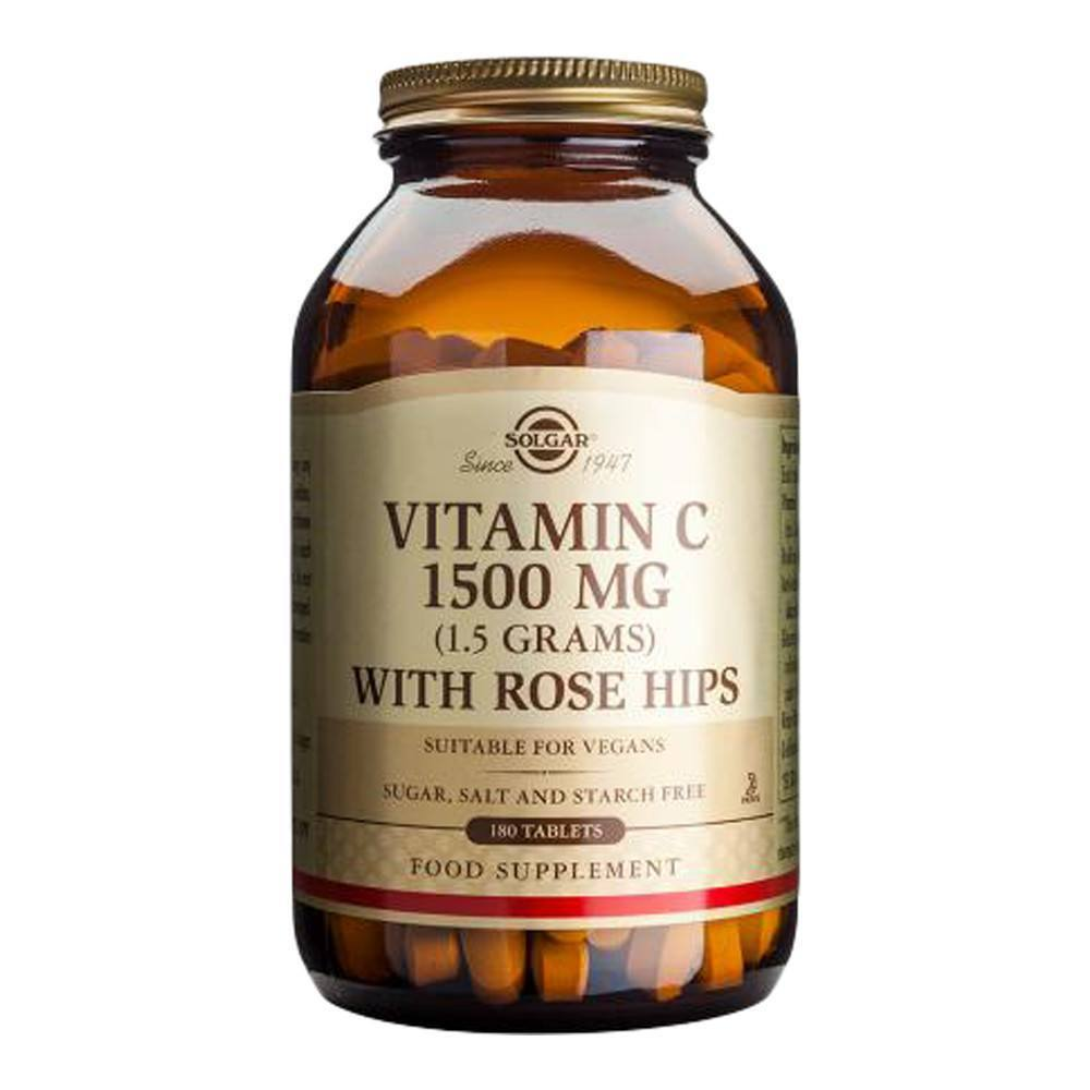 VMS - Solgar Vitamin C 1500 Mg With Rose Hips 180 Tablets