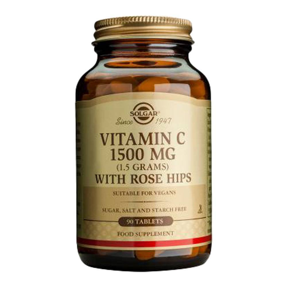VMS - Solgar Vitamin C 1500 Mg With Rose Hips 90 Tablets