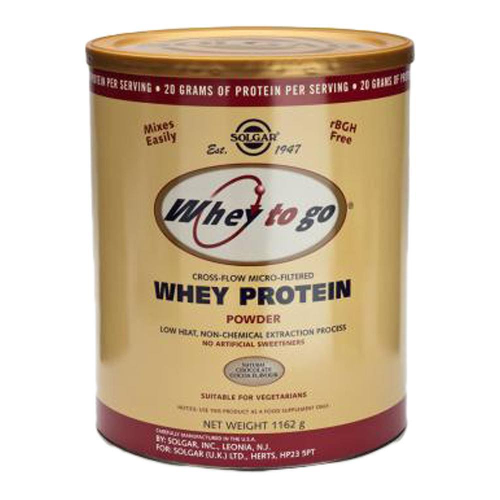 VMS - Solgar Whey To Go® Whey Protein Chocolate Flavour 1162 G Powder