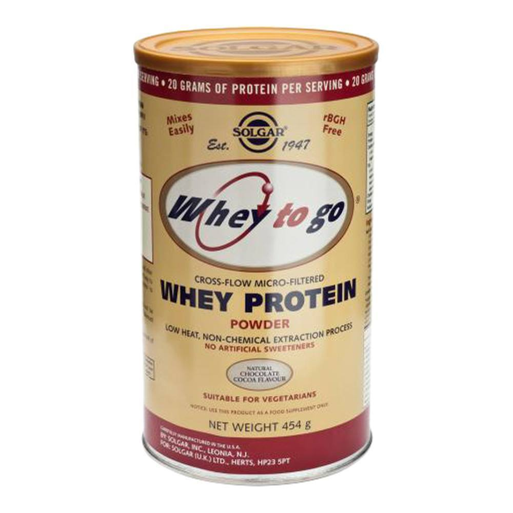 VMS - Solgar Whey To Go Whey Protein Chocolate Flavour 454 G Powder