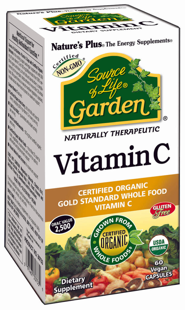 Nature's Plus Source of Life Garden Vitamin C, 500mg, 60VCapsules