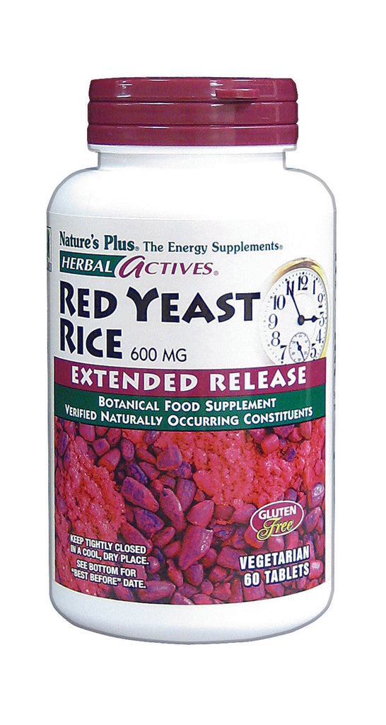 Nature's Plus Red Yeast Rice (Extended Release), 600mg, 60Tabs