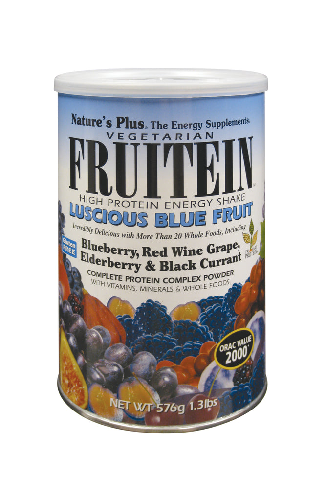 Nature's Plus Fruitein - Luscious Blue Fruit Shake, 612gr