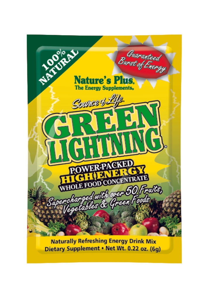Nature's Plus Source of Life Green Lightning Energy Drink, 20