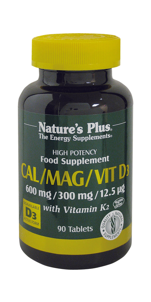 Nature's Plus Cal/Mag/Vit D3 with Vitamin K2, 90 Tablets
