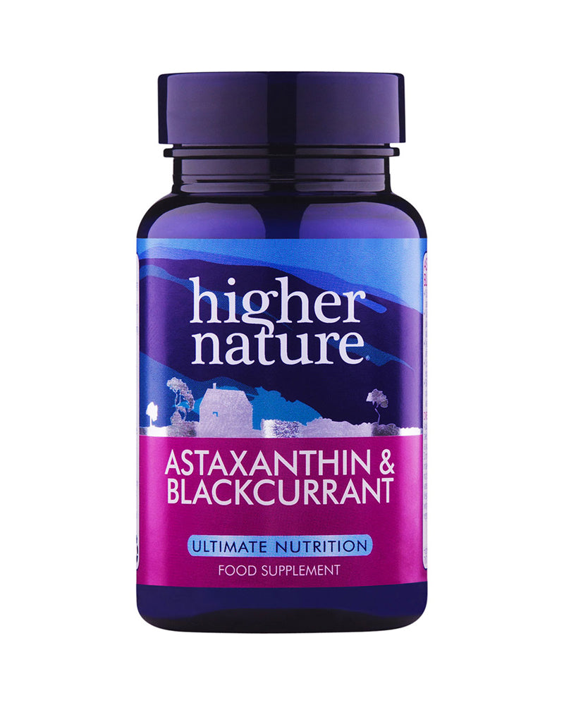 Higher Nature Astaxanthin & Blackcurrant, 90VCaps
