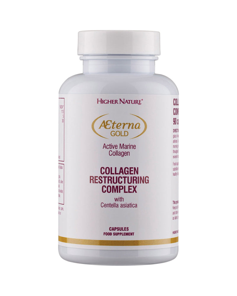 Higher Nature Aeterna Gold Collagen Restructuring Complex, 90Caps