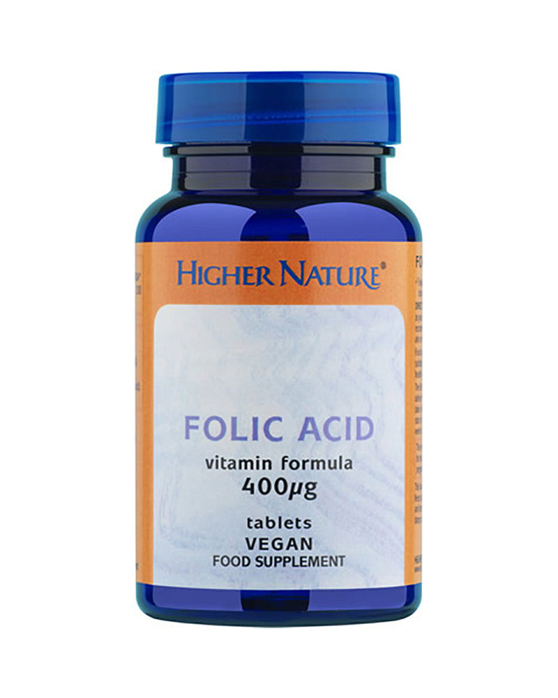 Higher Nature Folic Acid, 400ug, 90Tabs