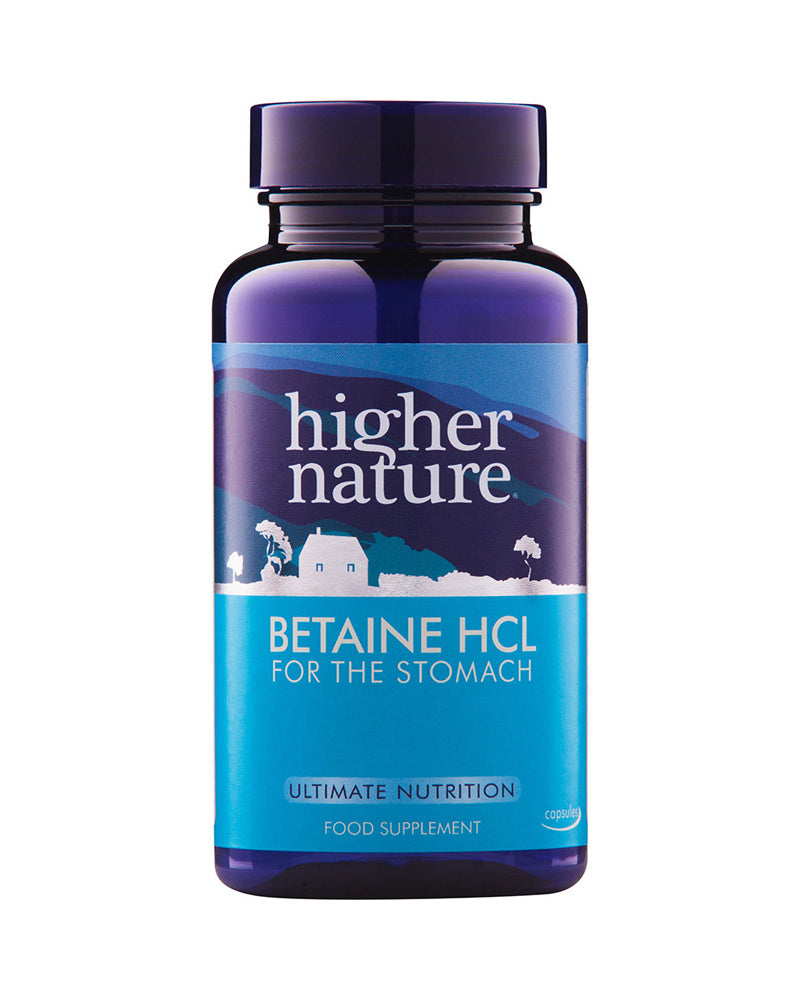 Higher Nature Betaine HCL, 90VCaps
