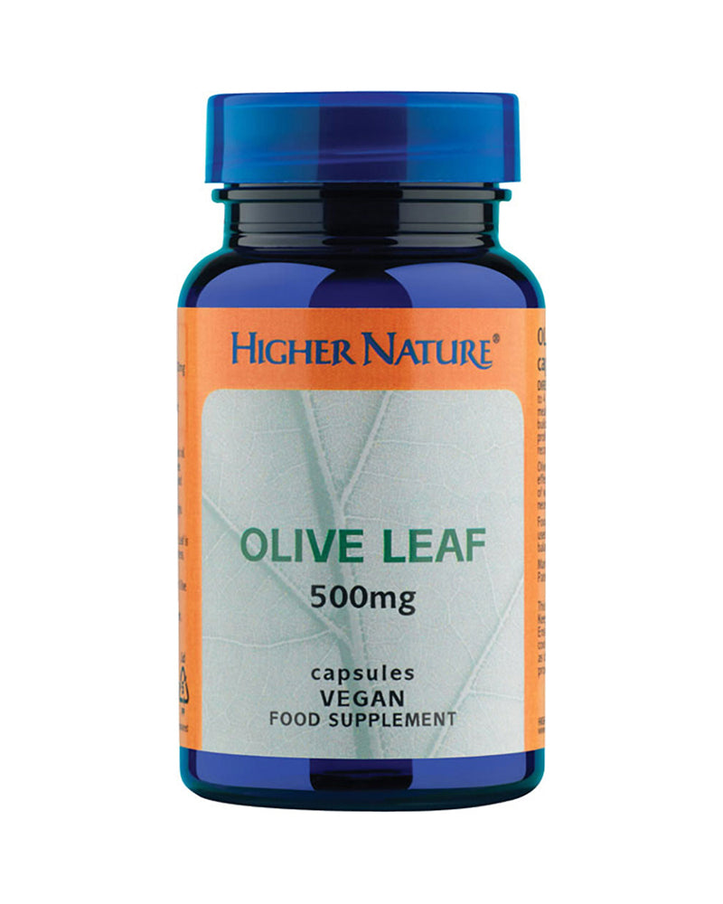 Higher Nature Olive Leaf, 500mg, 30VCaps