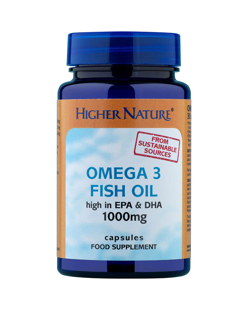Higher Nature Omega 3 Fish Oil, 30Caps