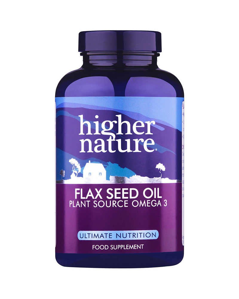 Higher Nature Flax Seed Oil Capsules, 1000mg, 180Caps