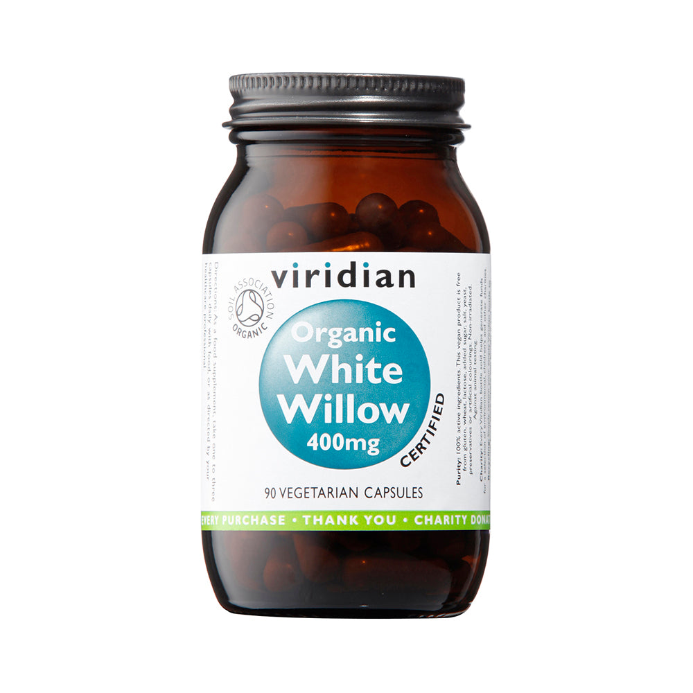 Viridian Organic White Willow, 400mg, 90 VCapsules