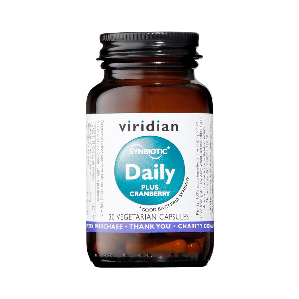 Viridian Synbiotic Daily Plus Cranberry, 30 VCapsules