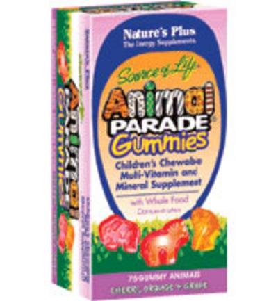 Nature's Plus Animal Parade Gummies, Assorted, 75 Tablets