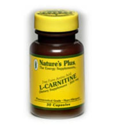 Nature's Plus L-Carnitine Free Form Amino Acid, 300mg, 30 VCapsules