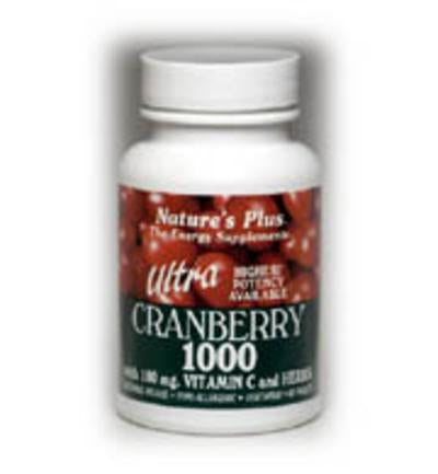 Nature's Plus Ultra Cranberry 1000 S/R, 1000mg, 90Tabs