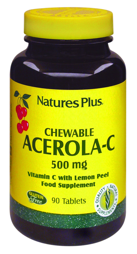 Nature's Plus Acerola-C Complex, 500mg, Tangy, 90 Chewables