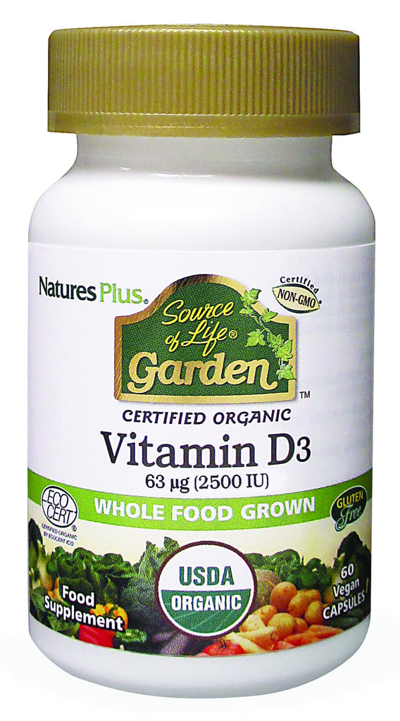 Nature's Plus Source of Life Garden Vitamin D3, 5000iu, 60VCapsules