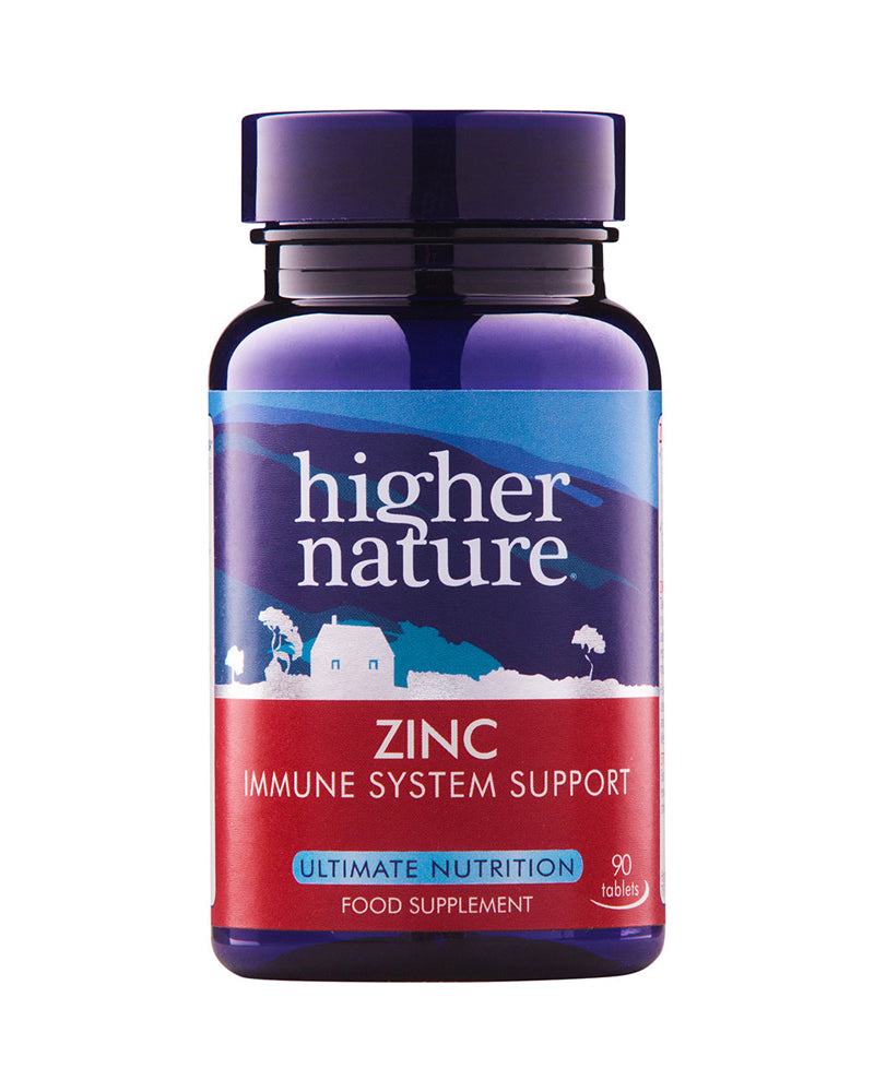 Higher Nature Zinc, 20mg, 90Tabs
