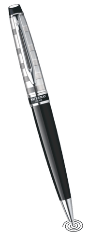 Waterman Expert deLuxe ball point pen  Black with Chrome Trim