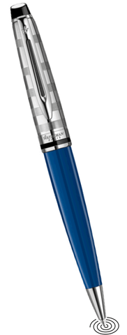 Waterman Expert deLuxe ball point pen  Blue with Chrome Trim