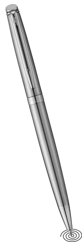 Waterman Hemisphere ball point pen - Silver with Chrome Trim