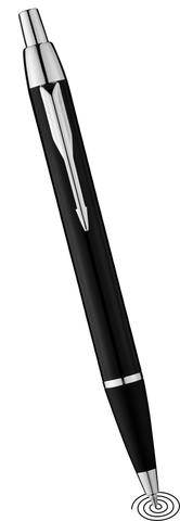 Parker IM ball point pen black chrome finish trim