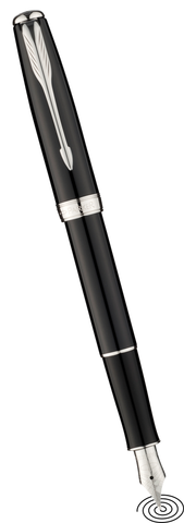 Parker Sonnet fountain pen - Black with Chrome Trim