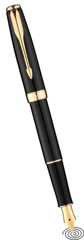 Parker Sonnet fountain pen - Black with Gold Finish Trim