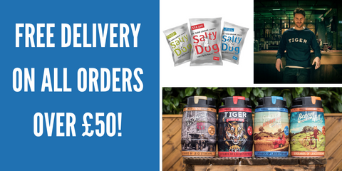 Free delivery on all orders over £50 from Everards of Leicestershire