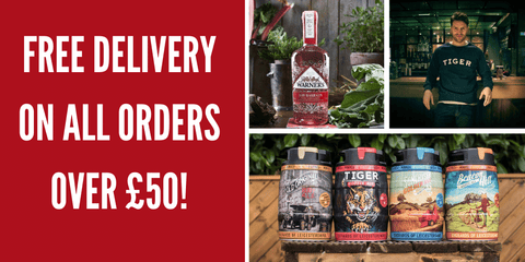 Free delivery on all orders over fifty pounds from Everards of Leicestershire