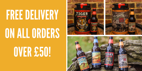 Free delivery on all beer and drink orders over fifty pounds from Everards of Leicestershire