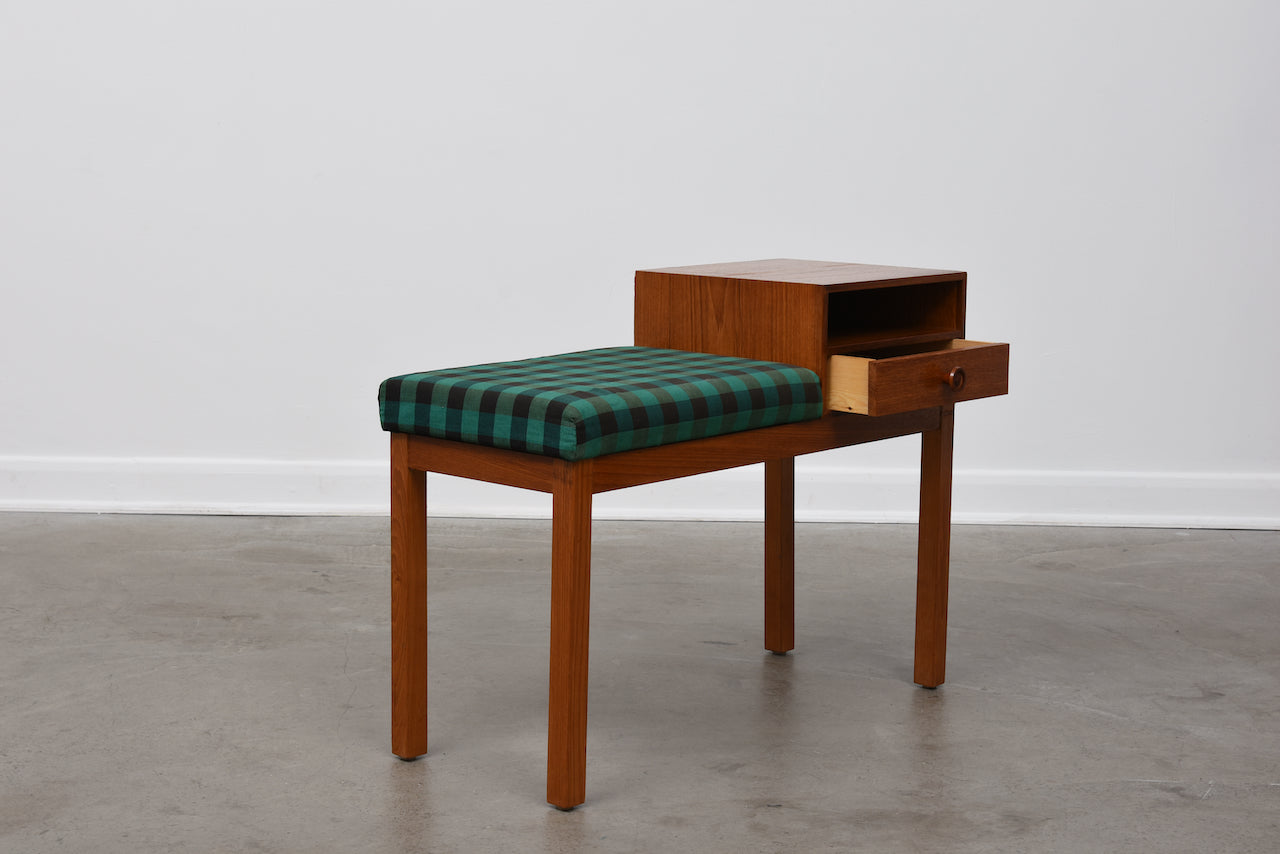 1960s Swedish telephone bench