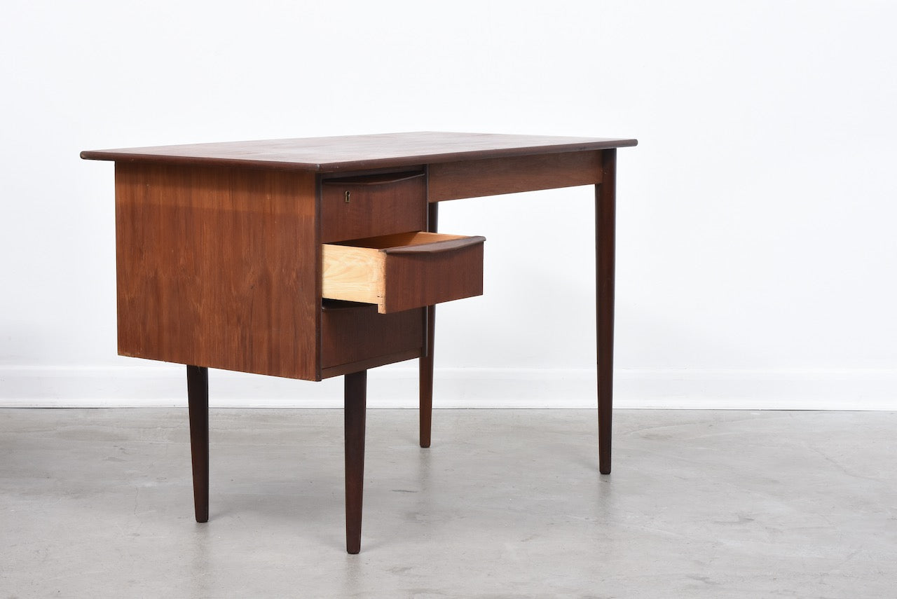 1960s teak desk with drawers