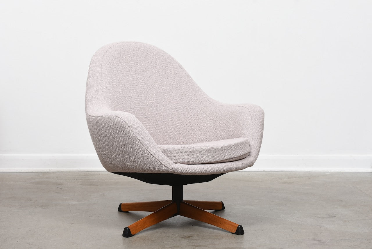 1960s Swedish swivel chair