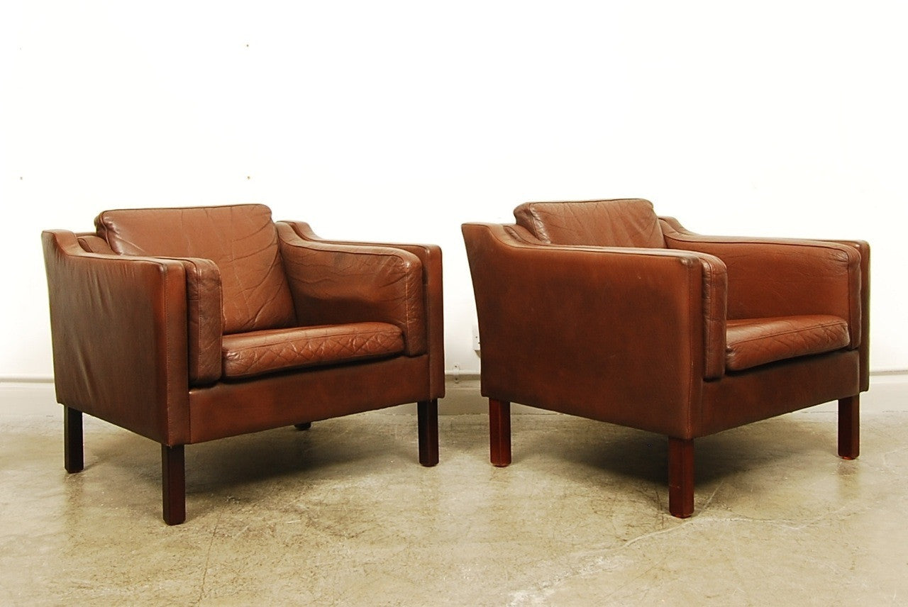 Pair of club chairs by Vemb