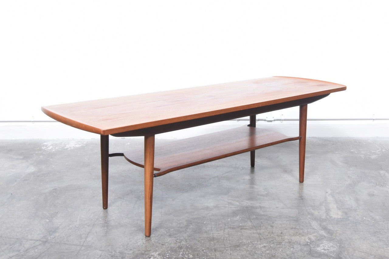 Teak coffee table with magazine shelf | CHASE & SORENSEN