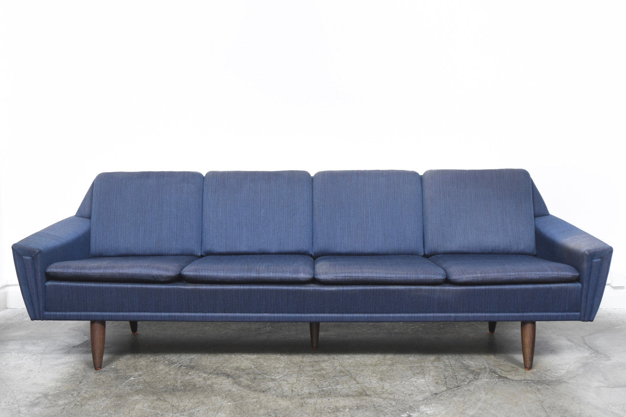 Four seat wool sofa