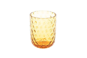 Danish Summer Tumbler Glass - Amber