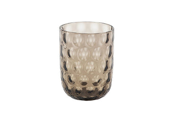 Danish Summer Tumbler Glass - Black Smoke