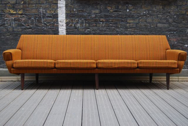 Four seat sofa in wool