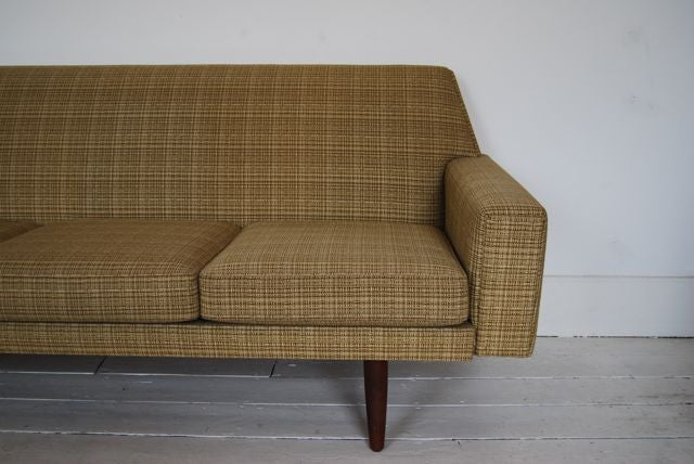 Chase & Sorensen Three seat sofa in wool