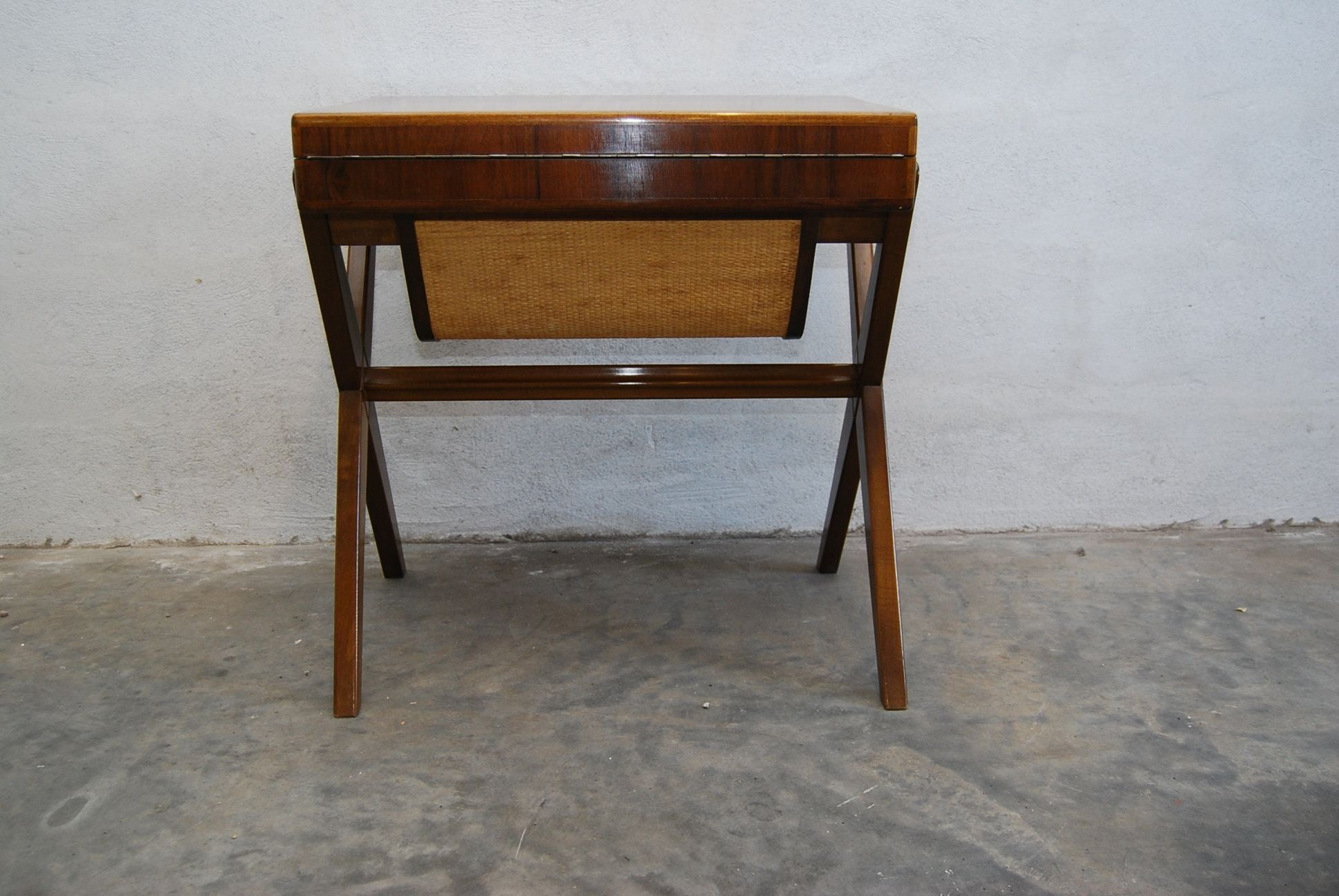 Chase & Sorensen Polished Teak Sewing Table